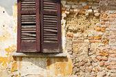 San macario window  varese italy  venetian blind   brick