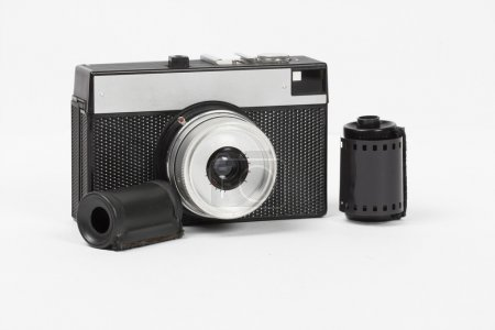 Camera on the white background