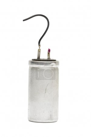 Photo for Capacitor on the white background - Royalty Free Image