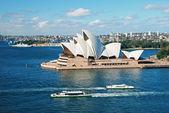 Sydney Opera House mit Ferrys in foregournd