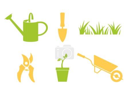 Garden icons set