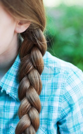 Natural blonde braided hair