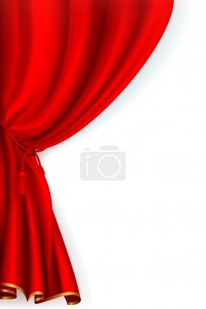 Illustration for Red Curtain, vector - Royalty Free Image