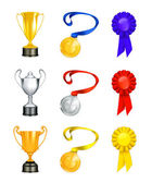 Trophy vector icon set
