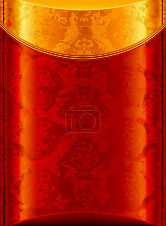 Old Gold and Red background, vector