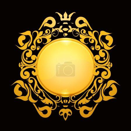 Gold Frame, eps10