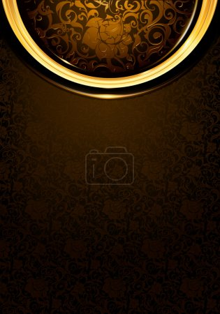 Illustration for Pattern dark brown Vintage, eps10 - Royalty Free Image