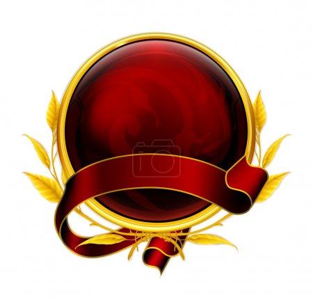 Illustration for Emblem red eps10 - Royalty Free Image