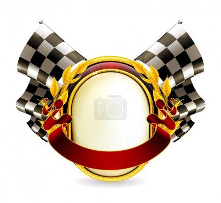 Flag checkered emblem, eps10