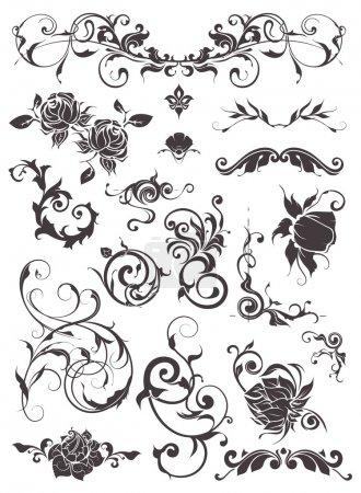 Illustration for Vintage design elements, set - Royalty Free Image