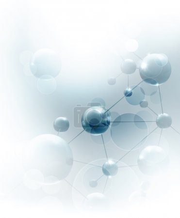 Photo for Futuristic background with molecules blue, eps10 - Royalty Free Image