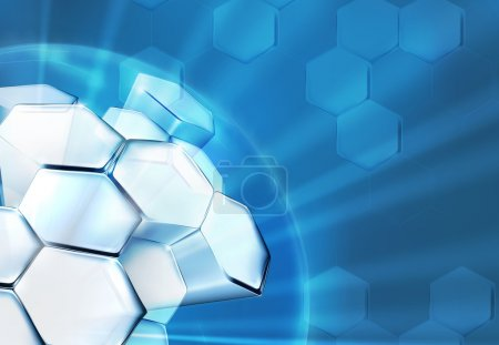Photo for Science Background Blue, 10eps - Royalty Free Image
