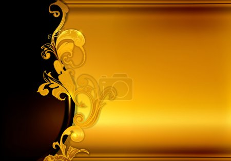 Illustration for Golden background, 10eps - Royalty Free Image