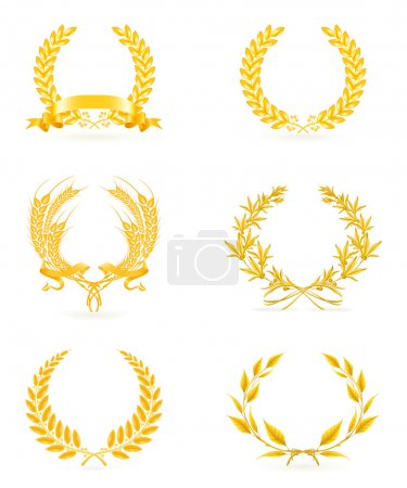 Golden wreath set, eps10