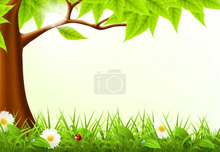 Illustration for Green Tree Frame, 10eps - Royalty Free Image