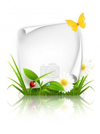 Illustration for Spring frame, 10eps - Royalty Free Image