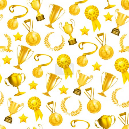 Golden Awards, seamless pattern 10eps