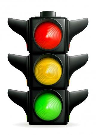 Illustration pour Feux de circulation, 10eps - image libre de droit