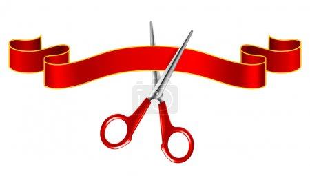 Tape and scissors, vector...