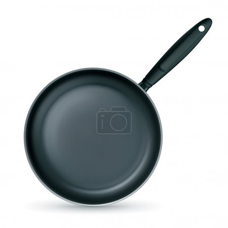 Frying pan, vector