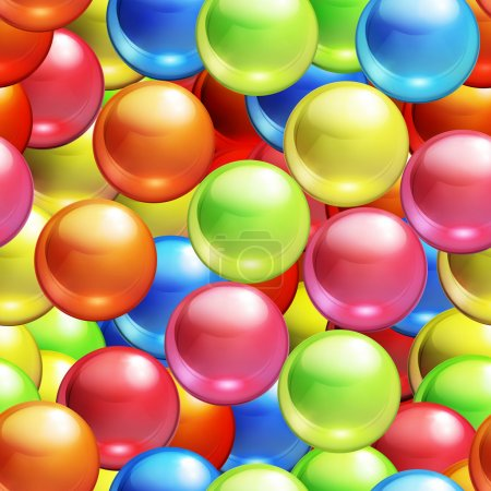 Background with balls seamless