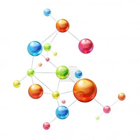Molecule on white