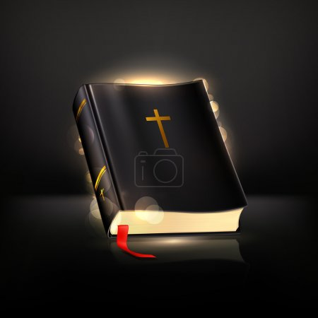 Bible on black