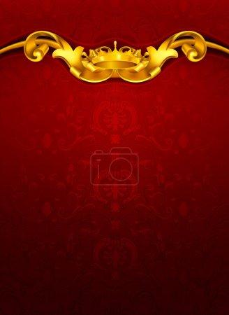 Illustration pour Modèle luxueux, rouge - image libre de droit