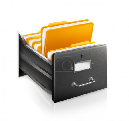 Illustration for Open Card Catalog - Royalty Free Image