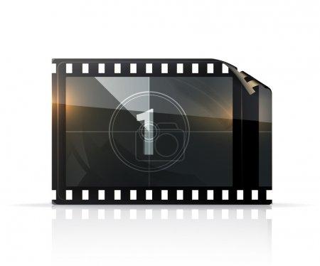 Illustration pour Bande de film - image libre de droit
