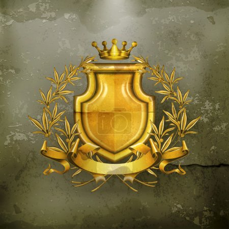 Coat of arms, old-style vector
