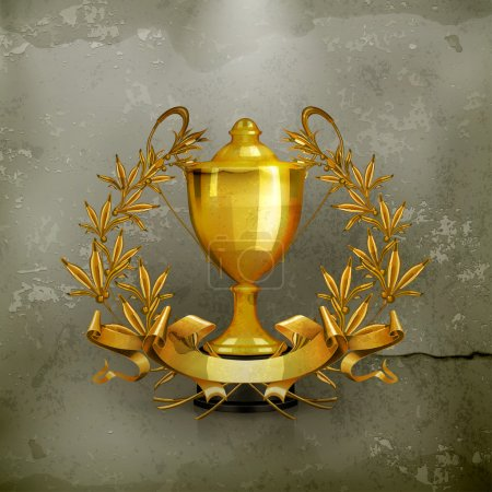 Trophy, old-style vector
