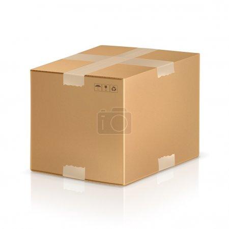 Ilustración de Caja de cartón - Imagen libre de derechos