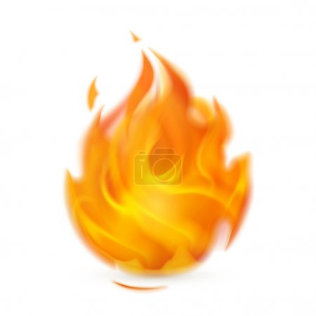Illustration for Fire, icon - Royalty Free Image