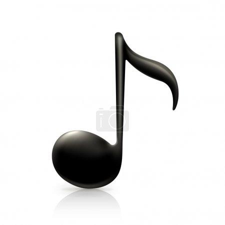 Illustration pour Note de musique - image libre de droit