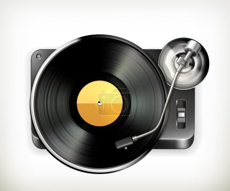 Phonograph turntable, vector