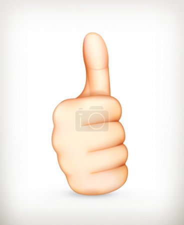 Thumb up, vector