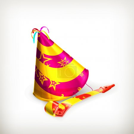 Illustration for Party hat - Royalty Free Image