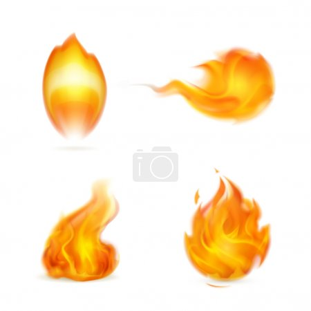 Illustration for Flame, icon - Royalty Free Image