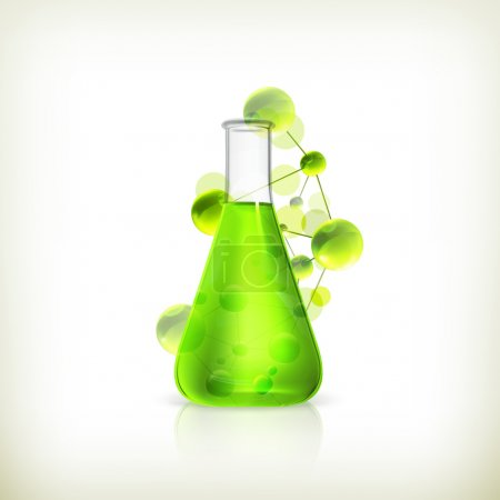 Illustration for Laboratory flask - Royalty Free Image