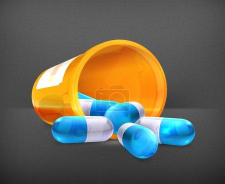 Illustration for Pills, 10eps - Royalty Free Image