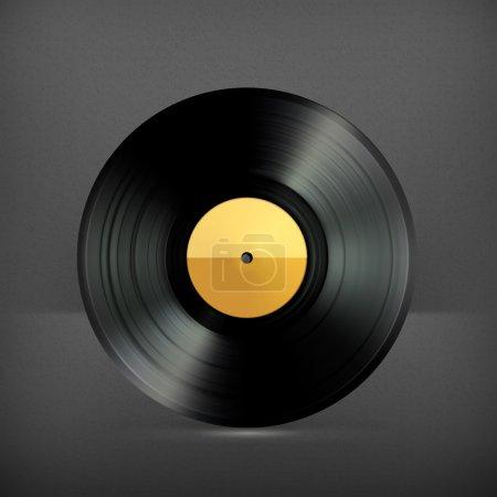 Vinyl record, vector