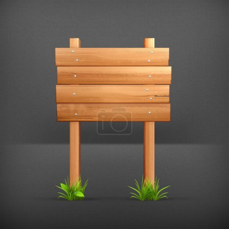 Wooden sign, 10eps