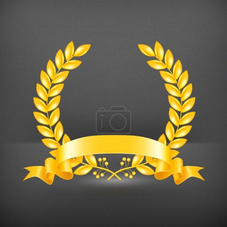 Illustration for Gold Wreath, vector - Royalty Free Image