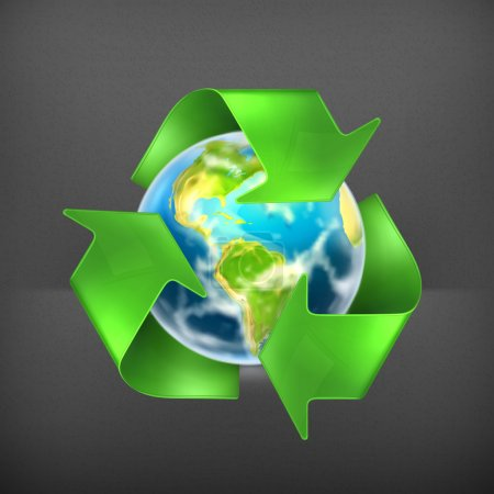 Recycling Earth, vector