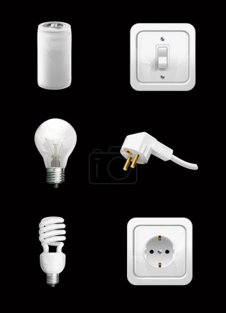 Electrical appliance on black