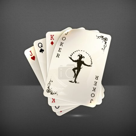 Illustration for Playing cards with a joker, 10eps - Royalty Free Image