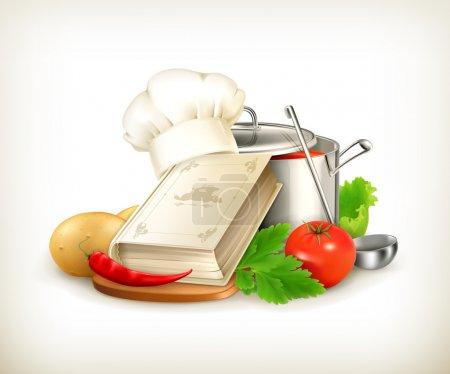 Illustration pour Illustration de cuisine, vecteur - image libre de droit