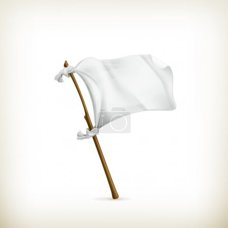 White flag, vector