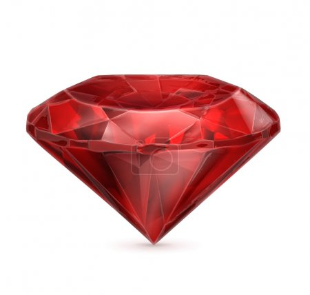 Ruby red vector icon